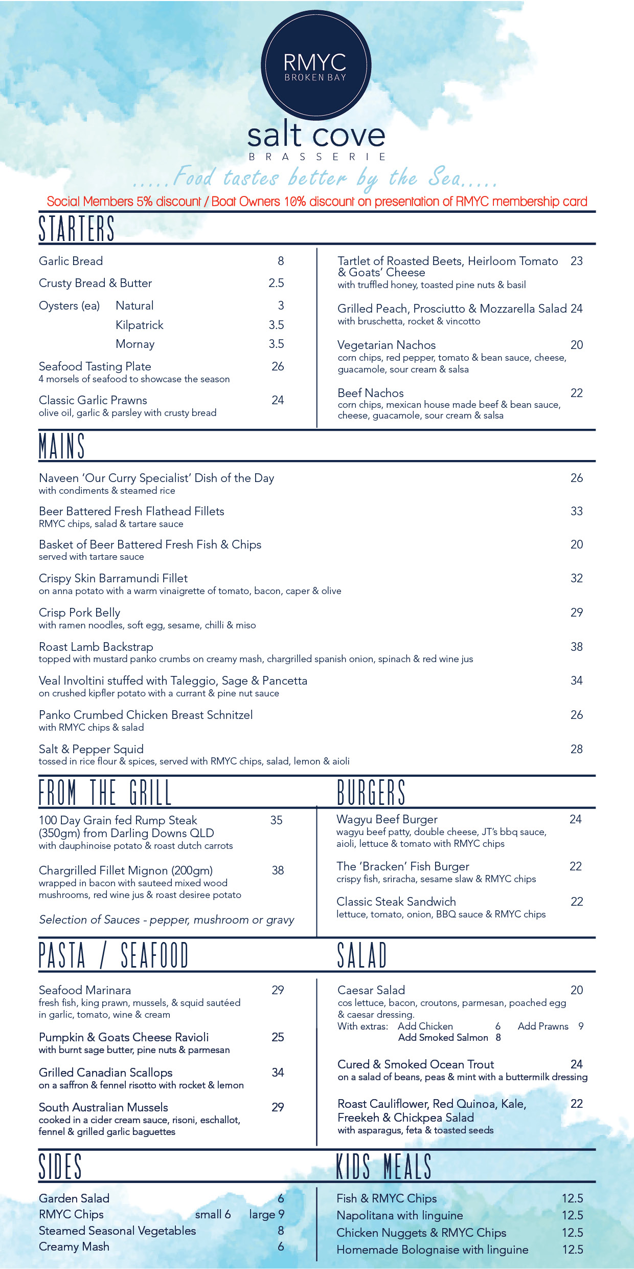 SALT COVE MENU SEPT LONG SINGLE WITH DESSERT AND PIZZA