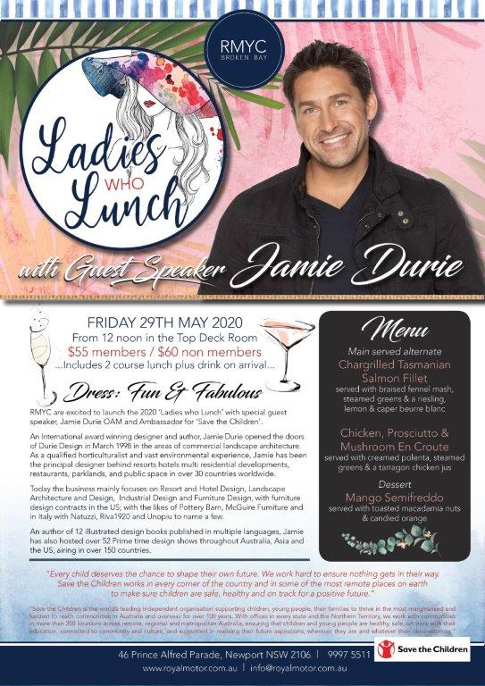 LADIES WHO LUNCH - WITH JAMIE DURIE